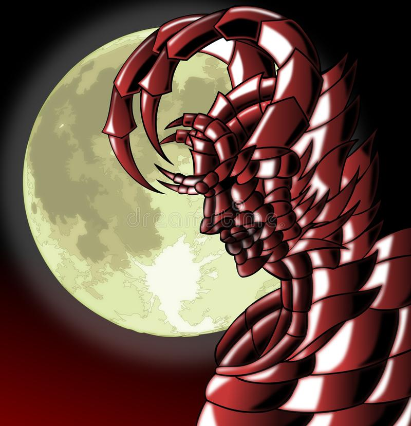 Diabeł przy nocą ilustracji