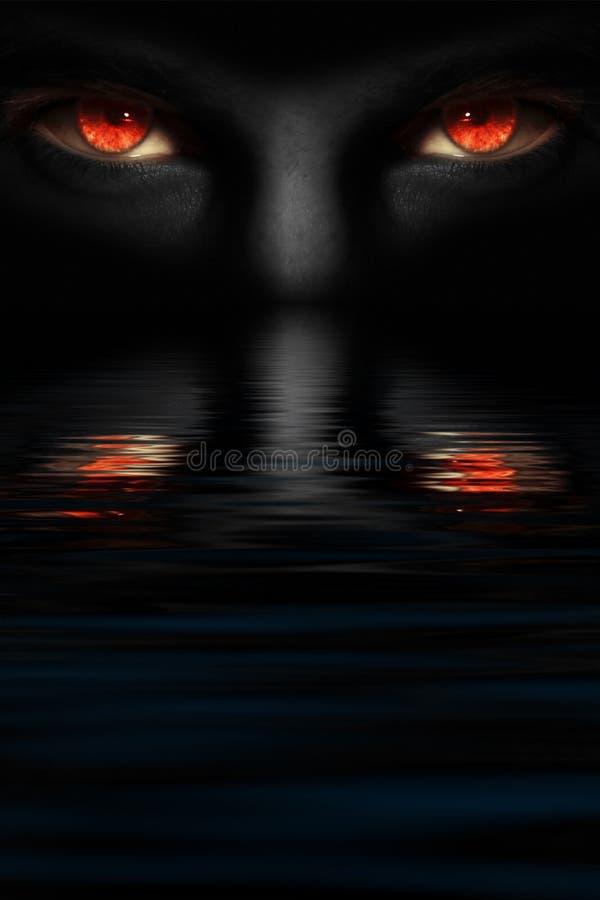 diabeł przygląda się s zdjęcie stock