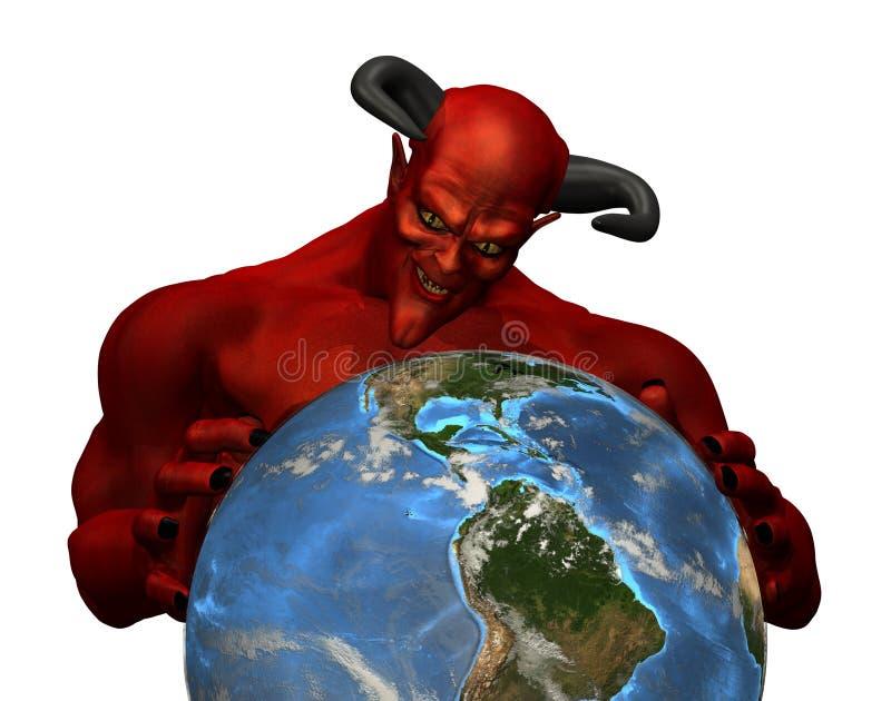 diabeł rządzi świat ilustracja wektor
