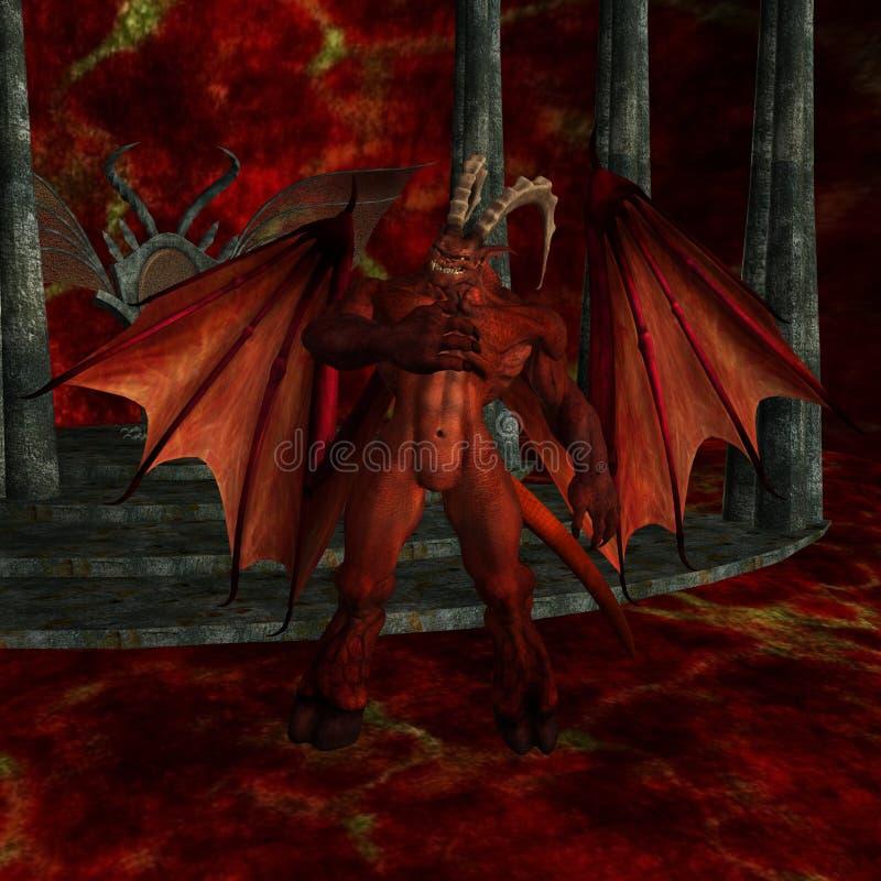 diabeł tło royalty ilustracja