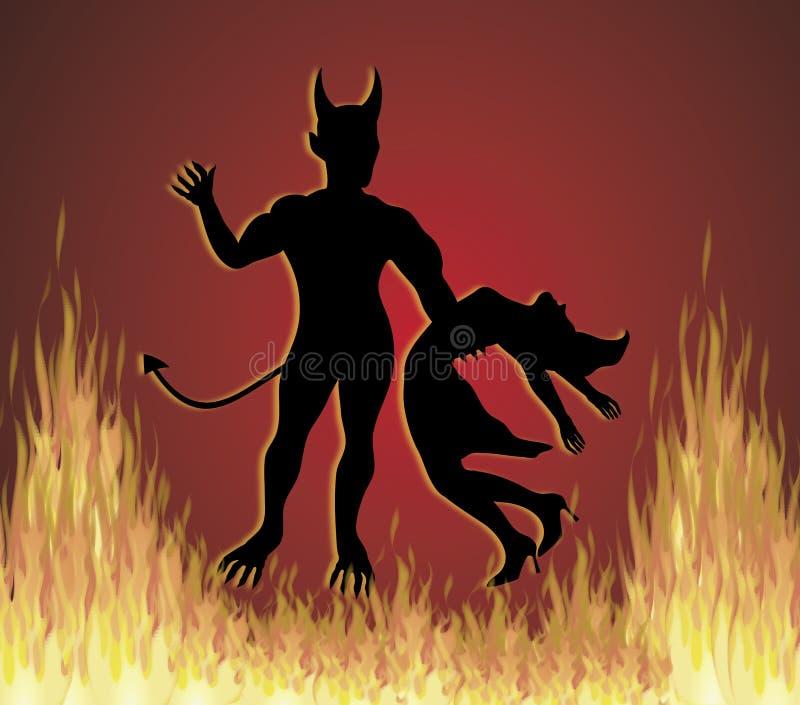 diabeł tańca ilustracja wektor