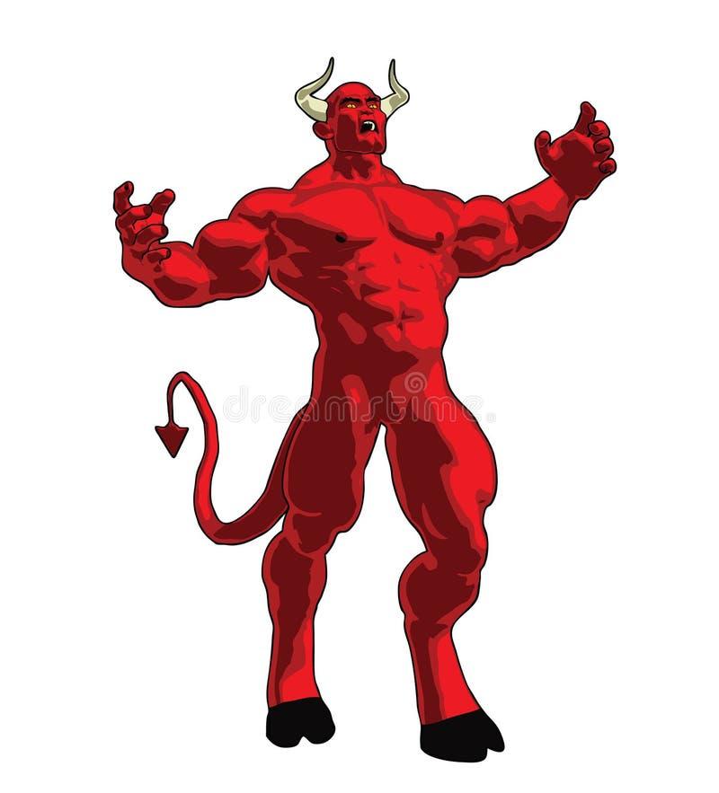 diabeł zła royalty ilustracja