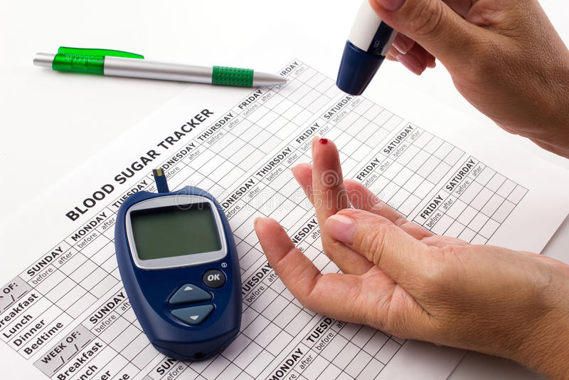 Diabet begrepp royaltyfria foton