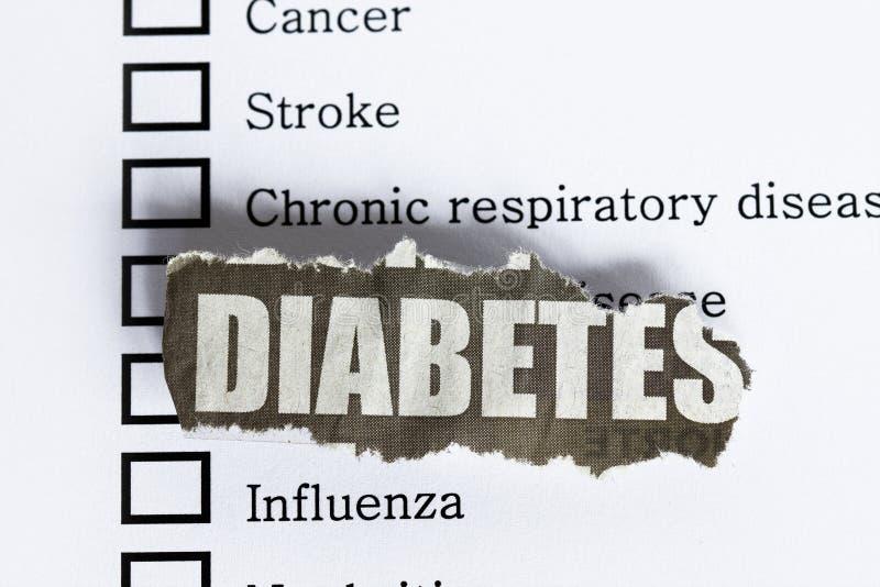 Diabetes royalty-vrije stock afbeelding