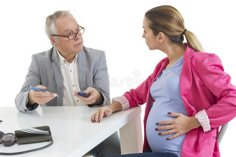 Diabetes Consult. Pregnant Woman royalty free stock image