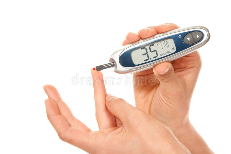 Download Diabetes Patient Measure Glucose Level Blood Test Stock Photo - Image of hand, illness: 18607552