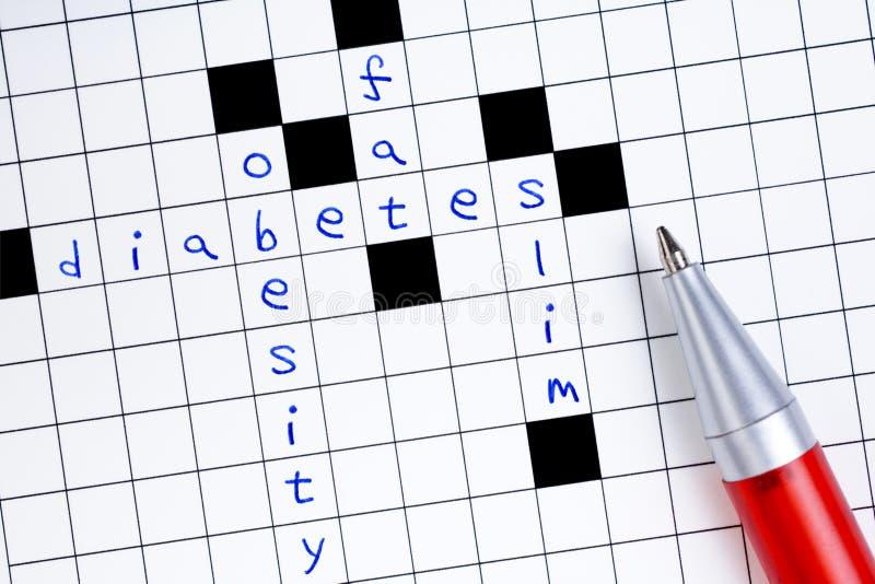 Diabetes Puzzle stock photography