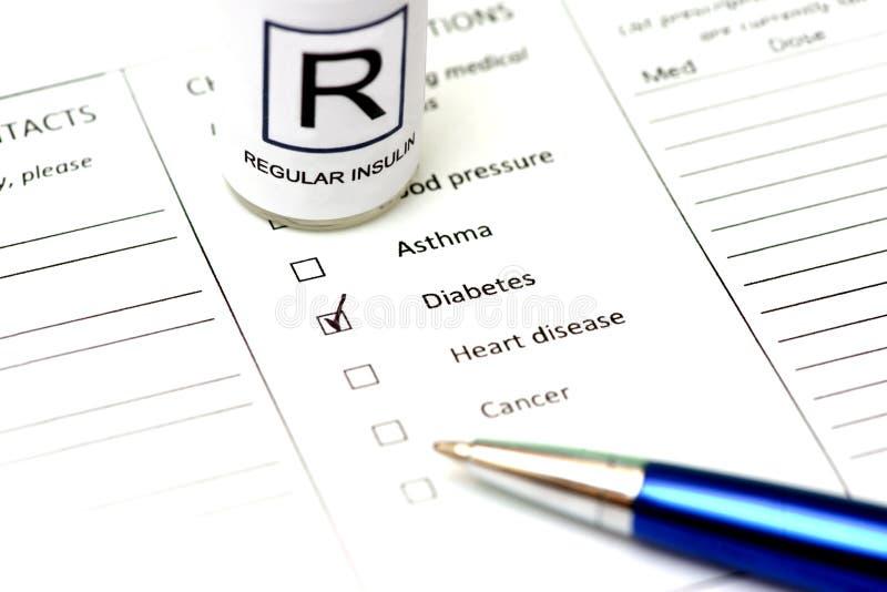 Diabetes-Steuerung stockfoto