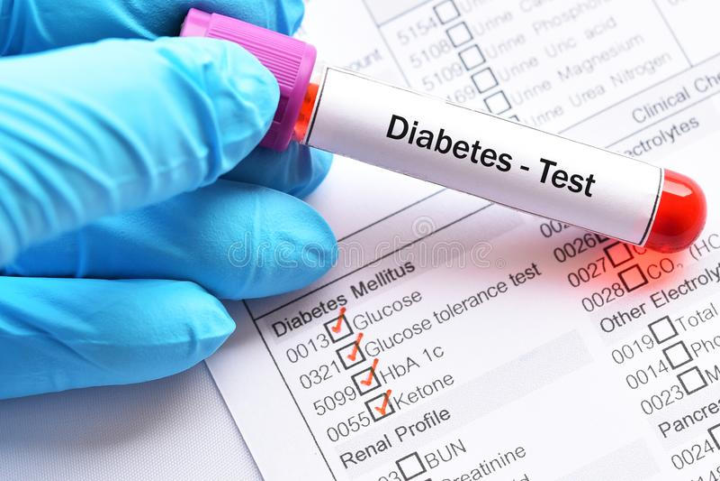 Diabetesdiagnose lizenzfreies stockfoto