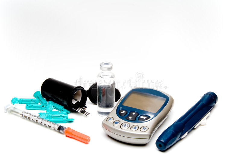 Diabetic Meter royalty free stock image