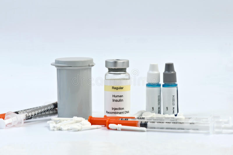 Diabetiska provningstillförsel royaltyfri bild