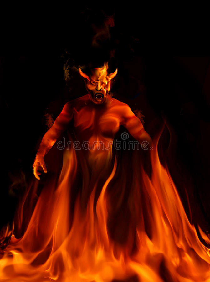 Diable illustration stock