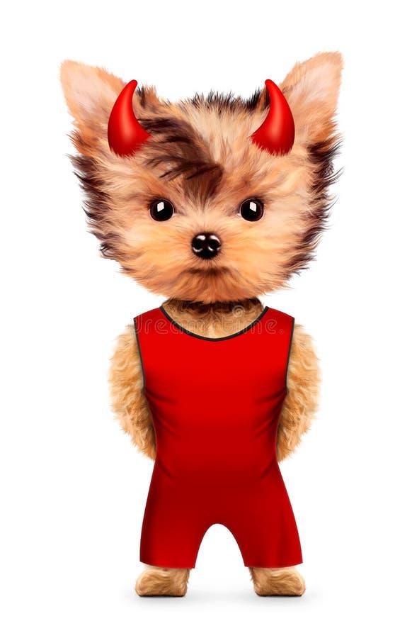 Diable animal drôle Halloween et concept mauvais illustration de vecteur