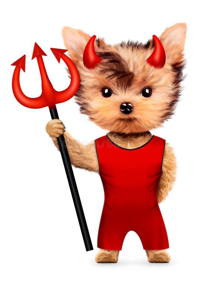 Diable animal drôle Halloween et concept mauvais illustration libre de droits