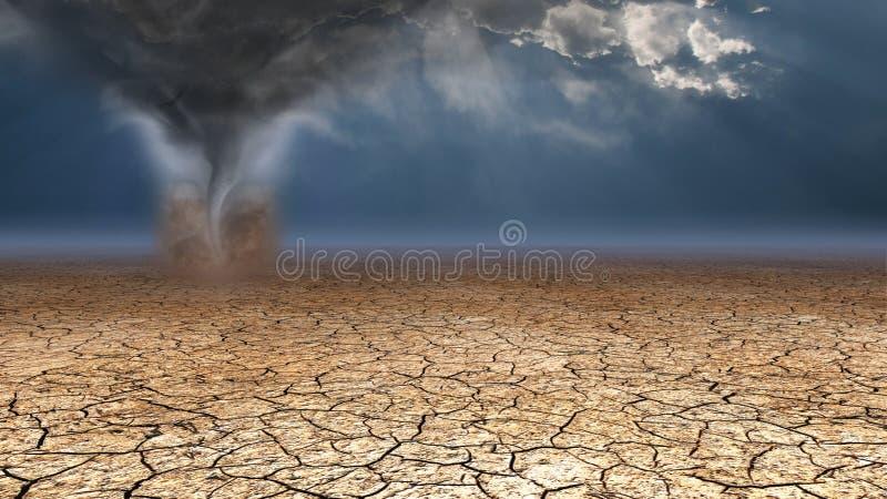 Diable de poussière de désert illustration stock