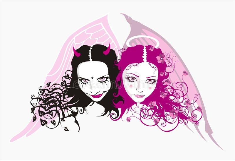 Diable et ange illustration stock