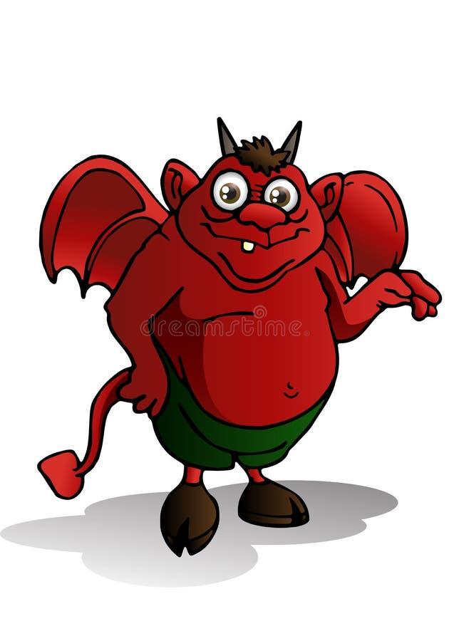 Diable mignon illustration libre de droits