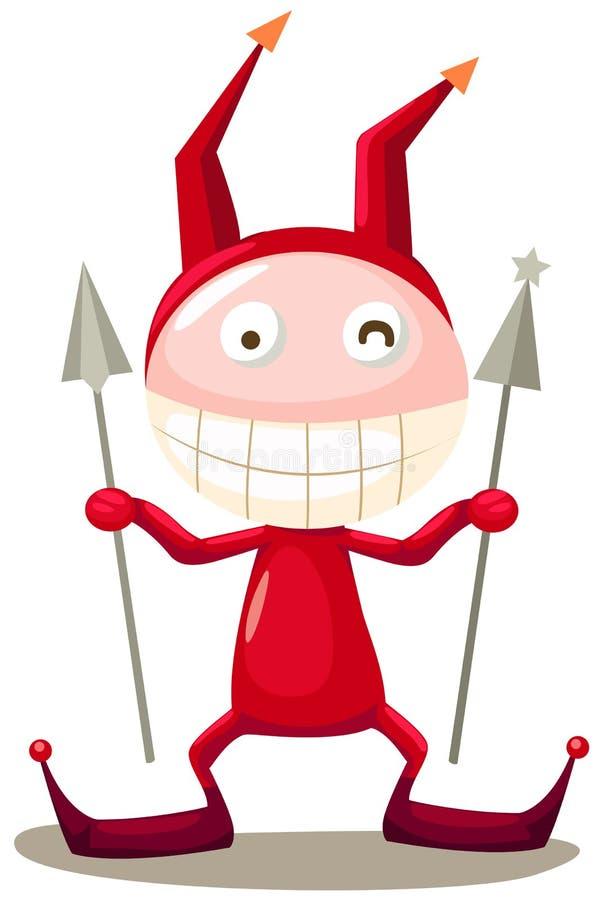 Diable rouge illustration libre de droits
