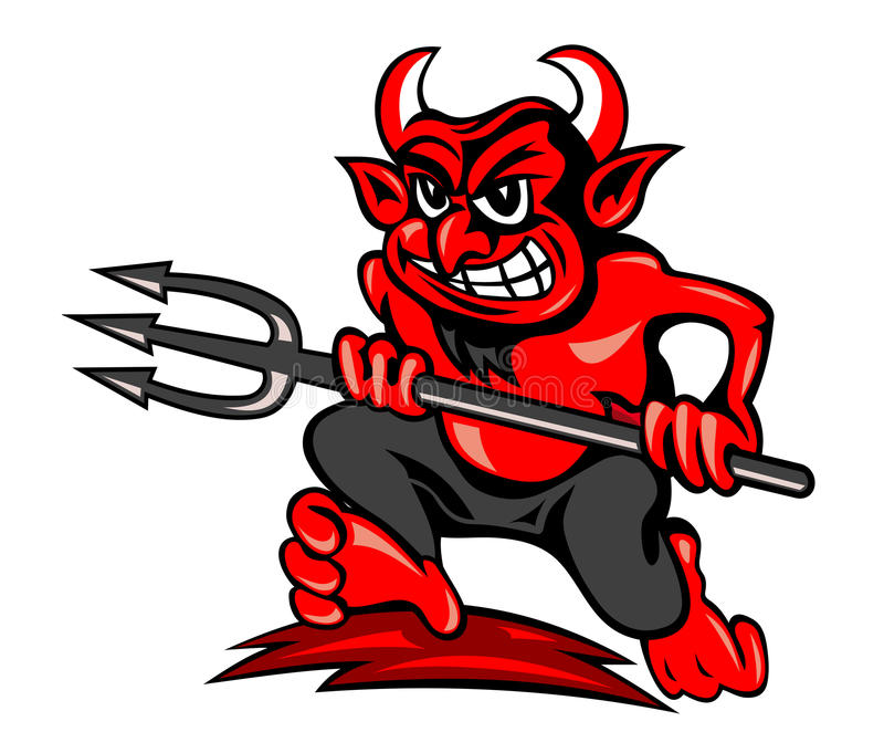 Diable rouge illustration stock