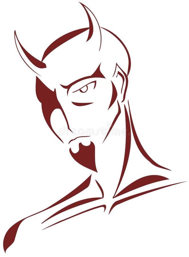 Diable stylisé illustration libre de droits