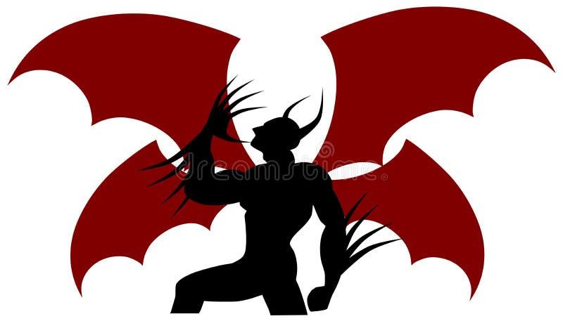 Diable stylisé illustration de vecteur