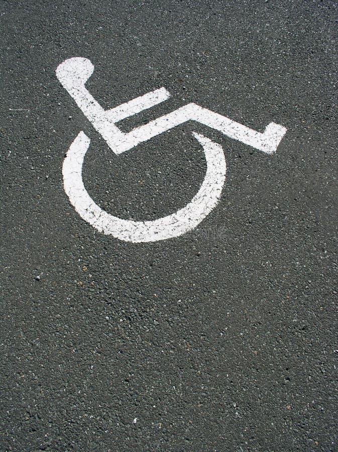 diabled parkering arkivfoton