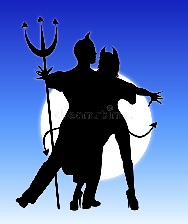 Diables 2 de danse illustration stock