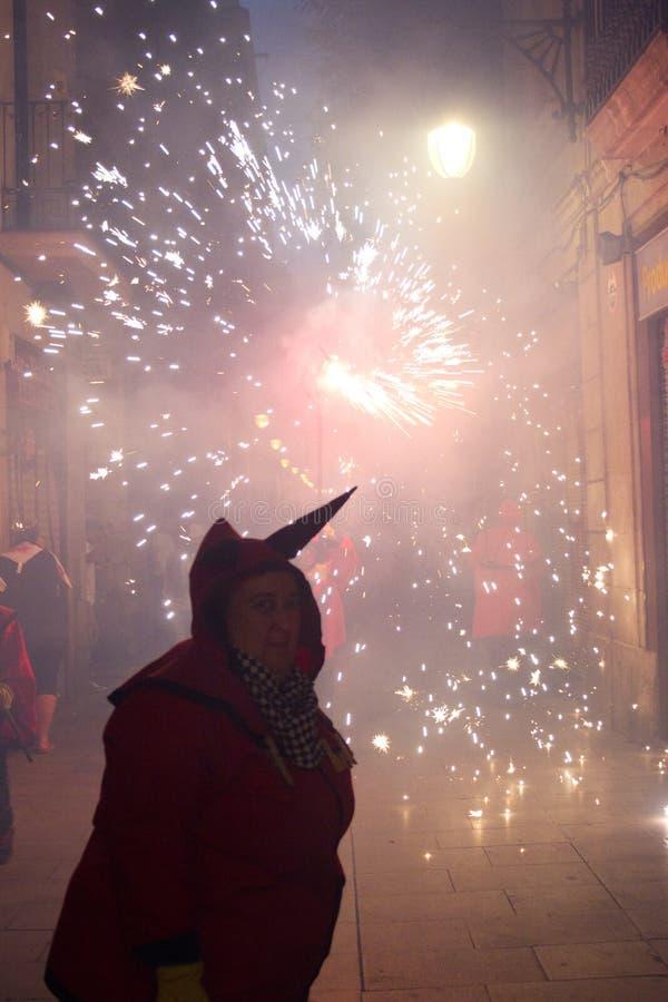 Diables et dragon d'incendie images libres de droits