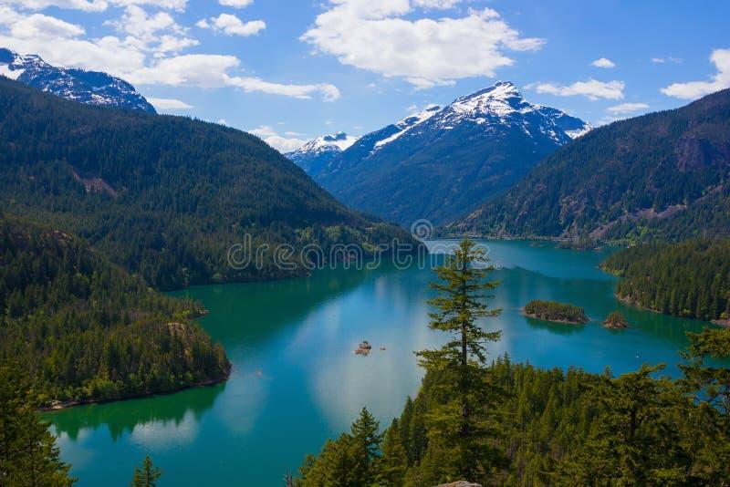 Diablo湖。 免版税库存图片