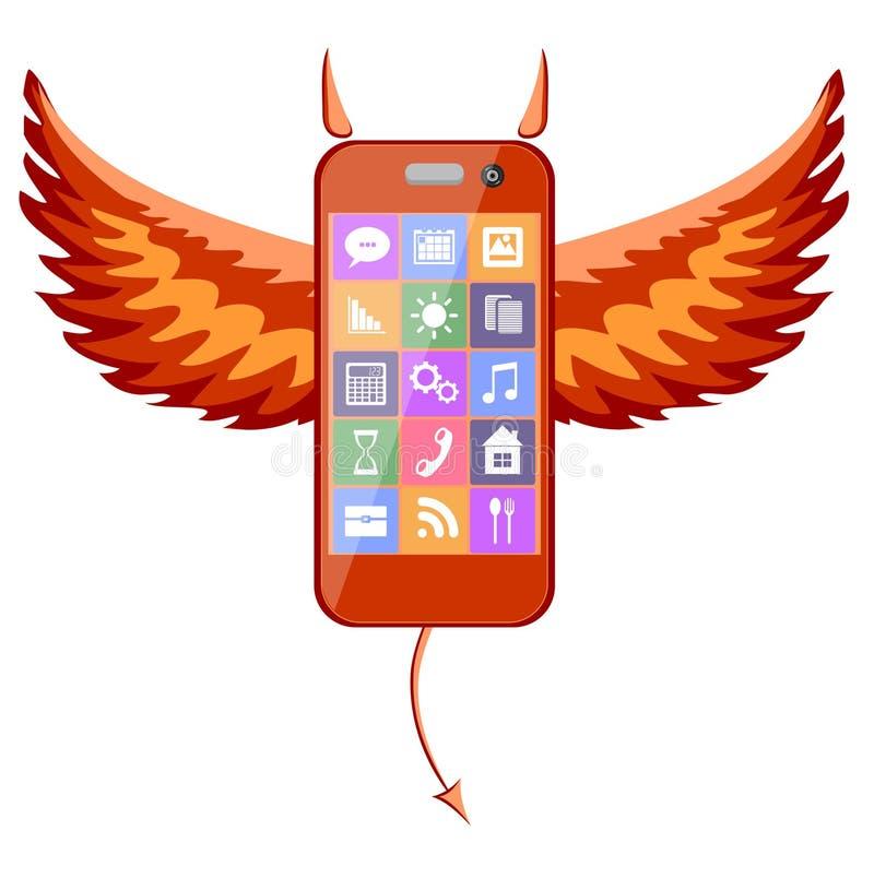 Diablo de Smartphone stock de ilustración