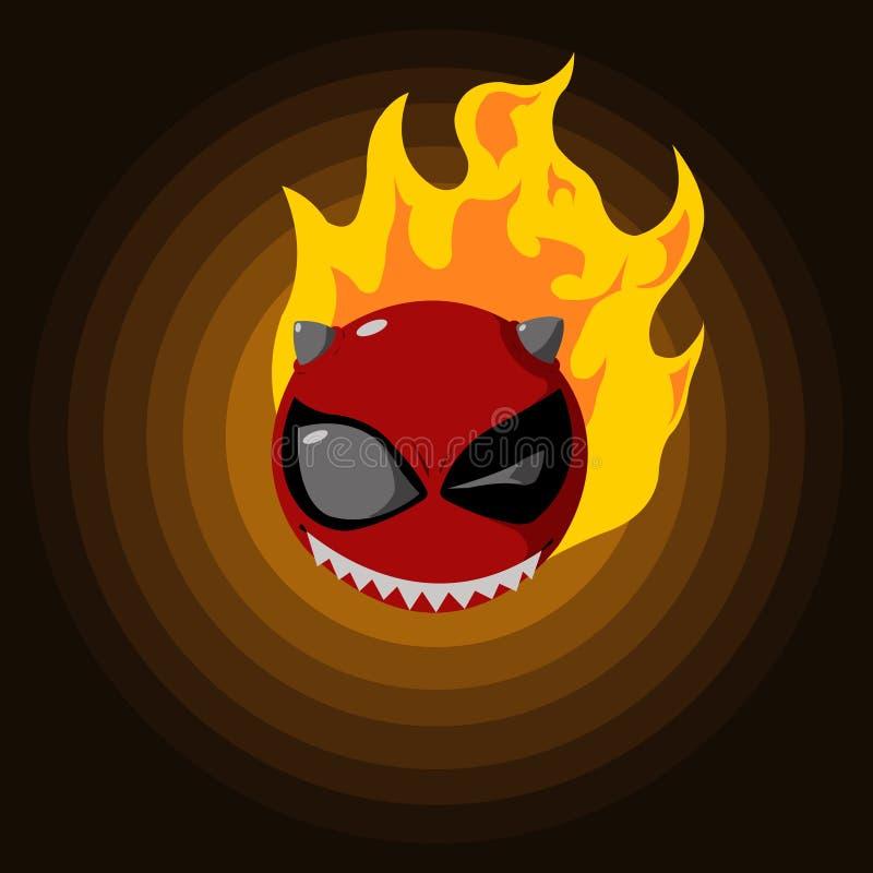 Diablo del fuego stock de ilustración