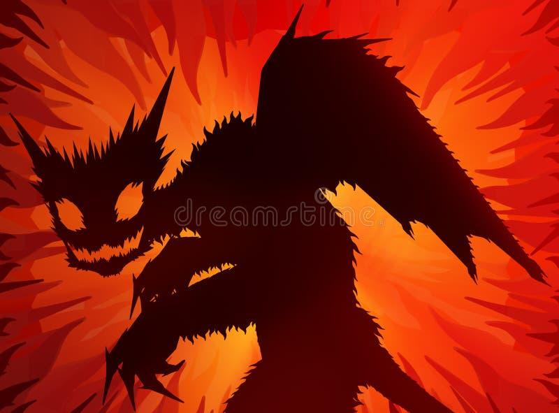 Diablo del infierno stock de ilustración