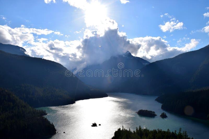 diablo jezioro zdjęcia stock