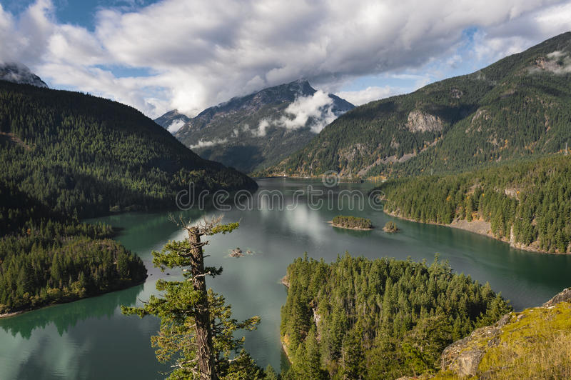 Diablo Lake stock photography