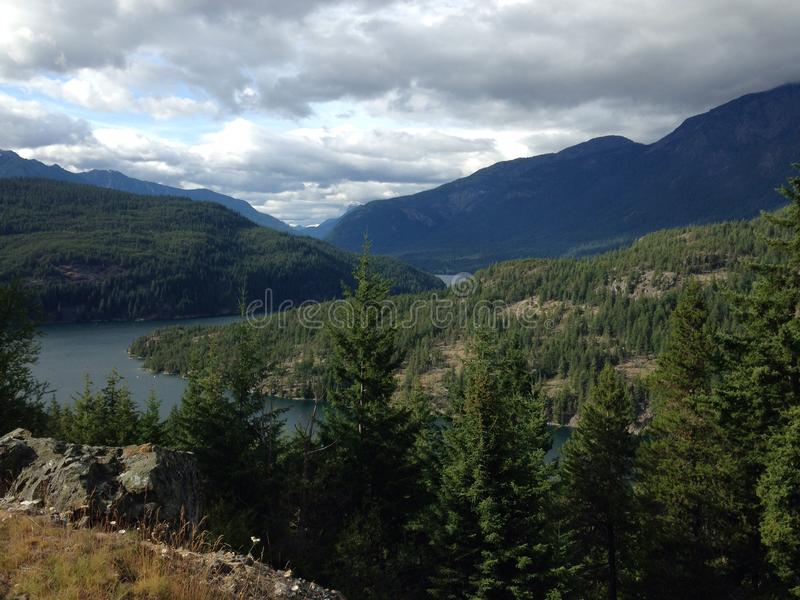 Diablo Lake Overlook fotos de stock