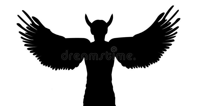 Diablo o ángel stock de ilustración
