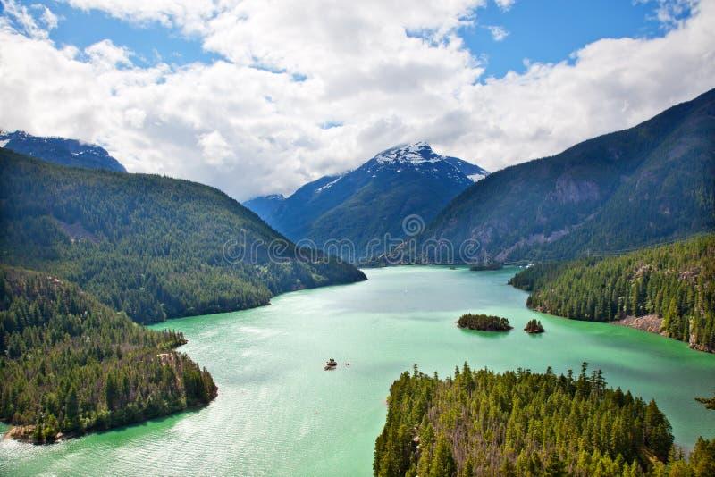 Diablo Park Washington för norr kaskader för Lake nationell royaltyfria foton