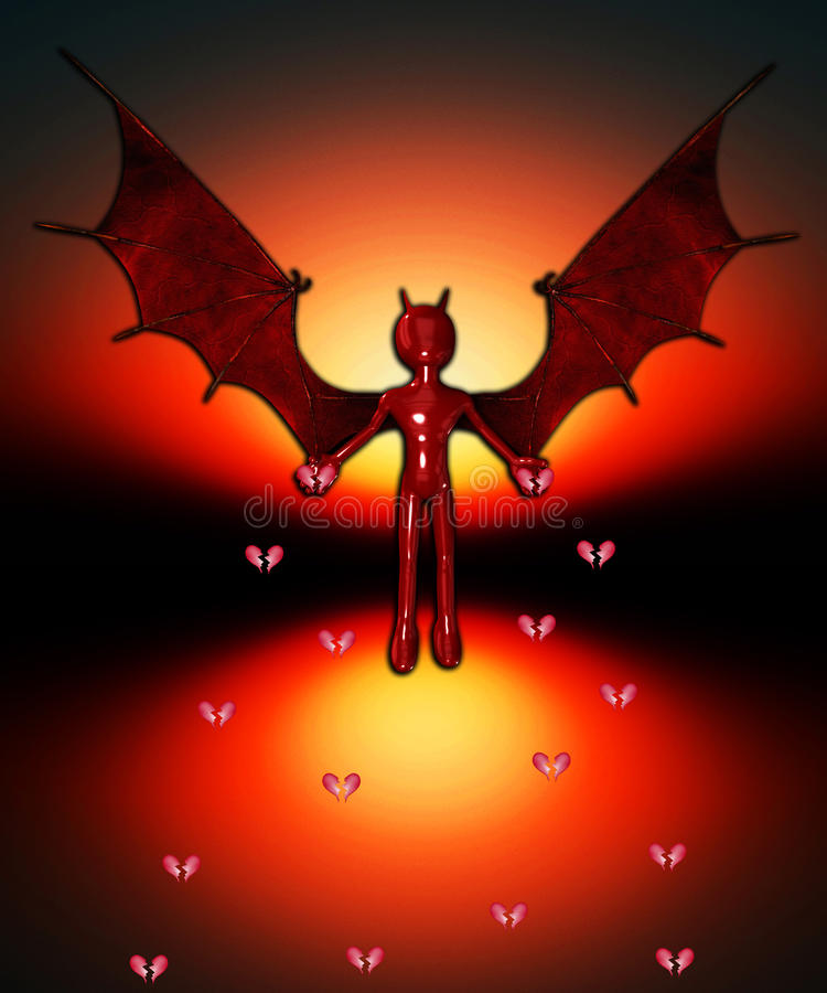 Diablo que separa la angustia libre illustration
