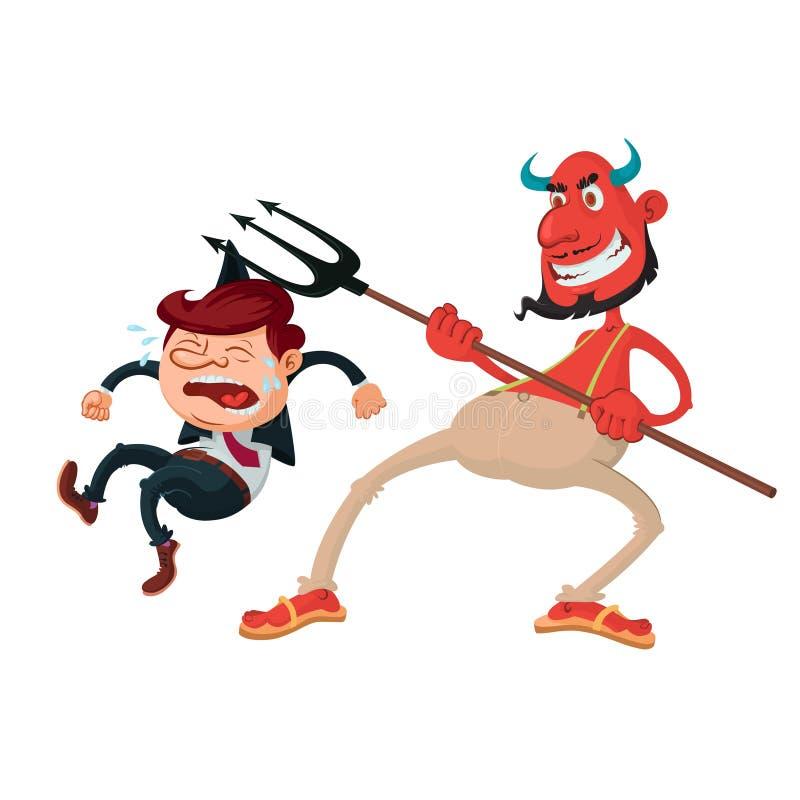 Diablo y pecador stock de ilustración