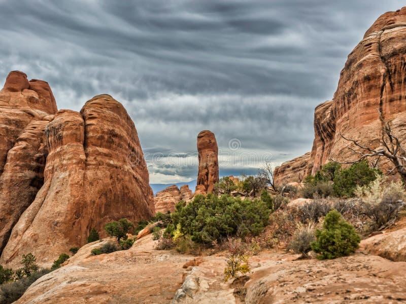 Diablos jardín, Utah del monumento nacional de los arcos imágenes de archivo libres de regalías