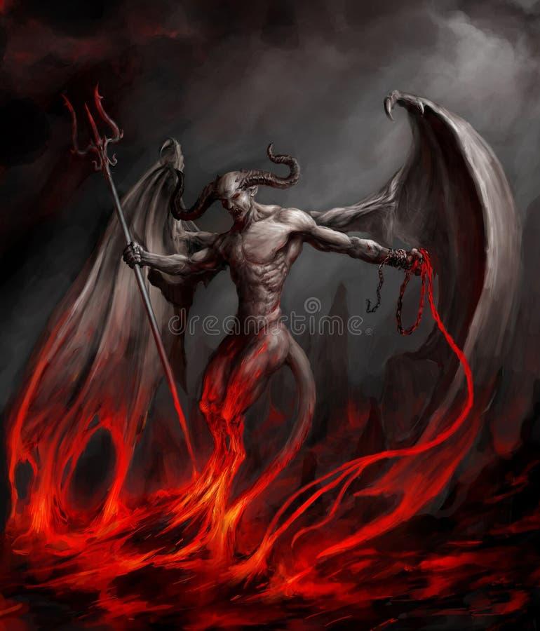 Diabo ilustração royalty free
