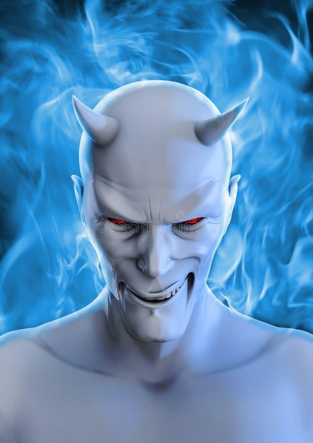 Diabo branco ilustração do vetor