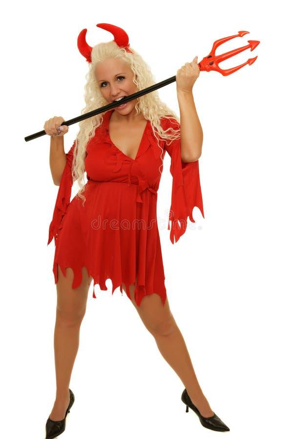 Diabo da mulher foto de stock
