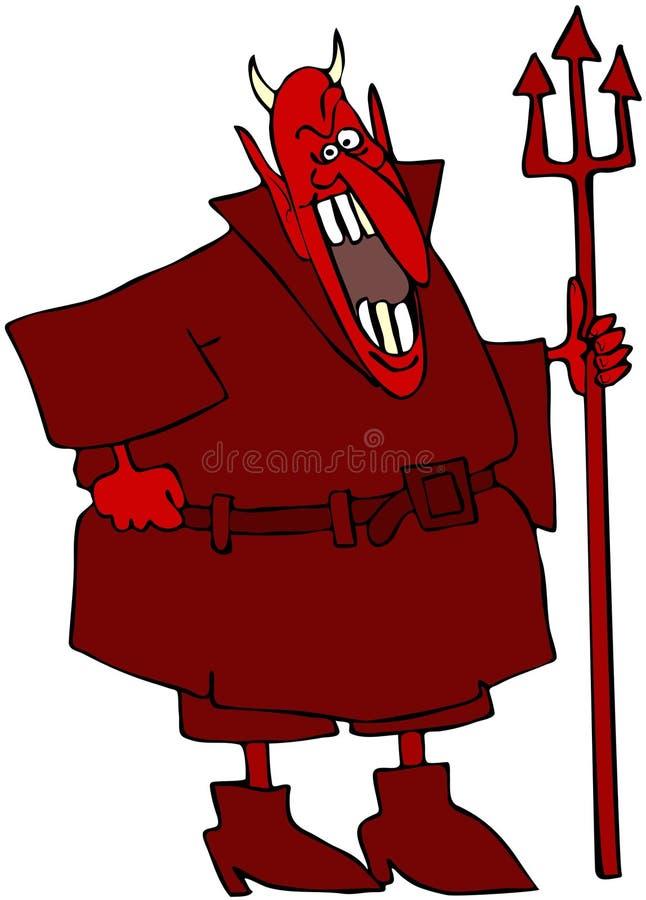 Diabo de riso ilustração royalty free