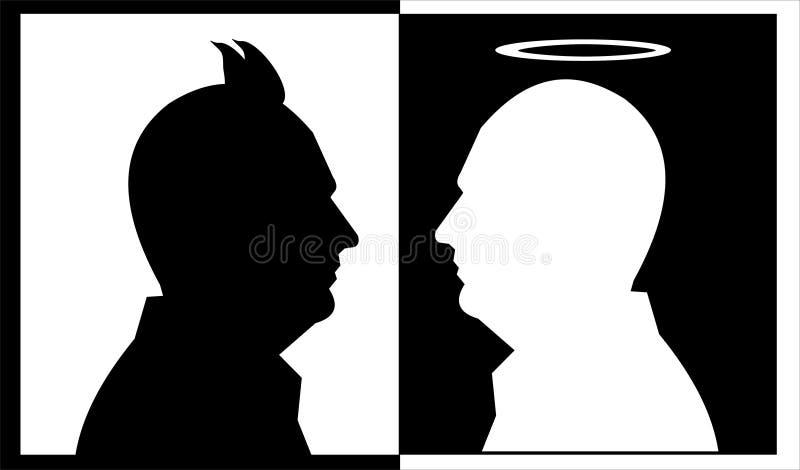 Diabo do anjo ilustração do vetor