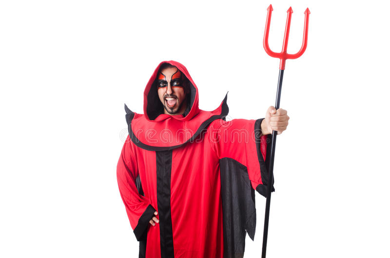 Diabo do homem fotos de stock