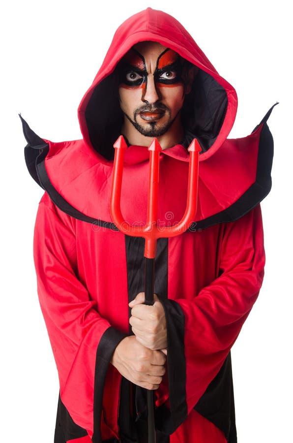 Diabo do homem imagens de stock