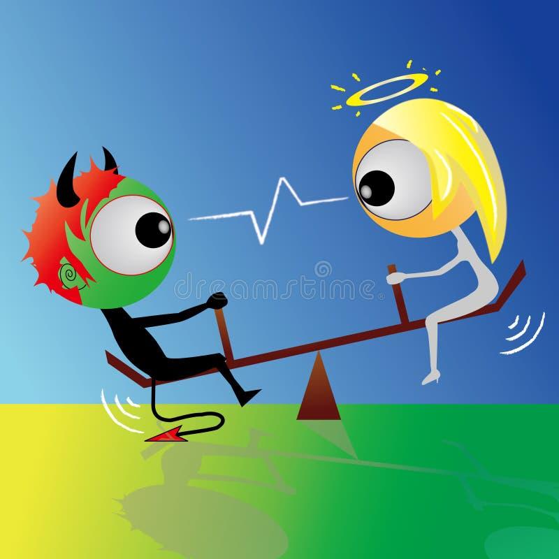 Download Diabo e anjo ilustração do vetor. Ilustração de evil - 10051896