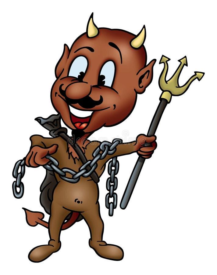 Diabo e tridente ilustração royalty free