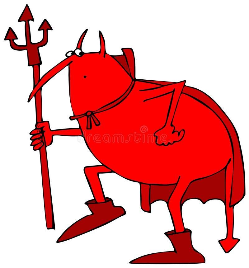 Diabo furtivo ilustração do vetor